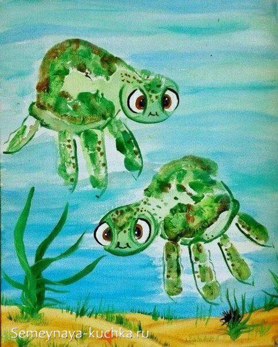 рисунки ладошками для детей