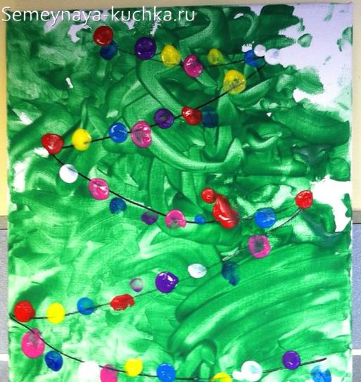 рисование пальчиками в детском саду