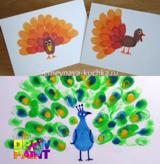 рисуем пальцами в детском саду