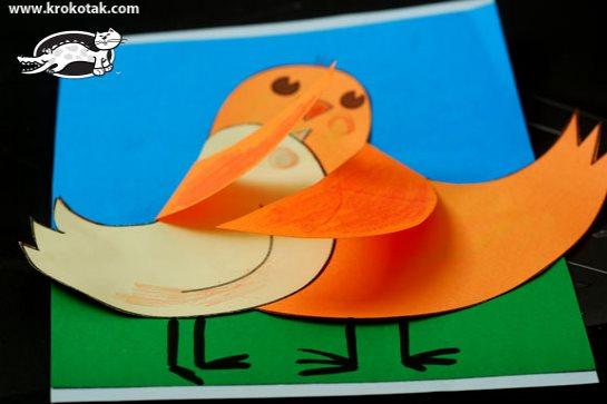 аппликации птицы в детский сад