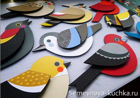 аппликации птицы для детей