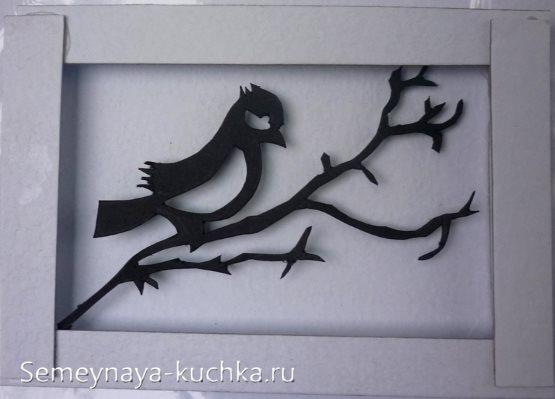 аппликации птицы картина