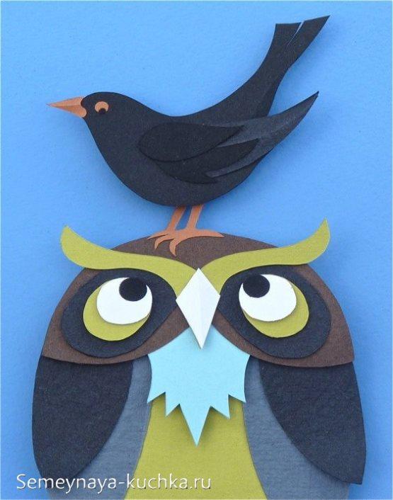 аппликация птицы своими руками