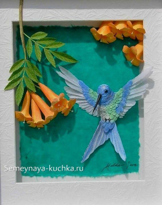 аппликации птицы колибри