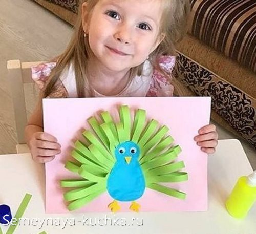 аппликации птицы для детей в садик
