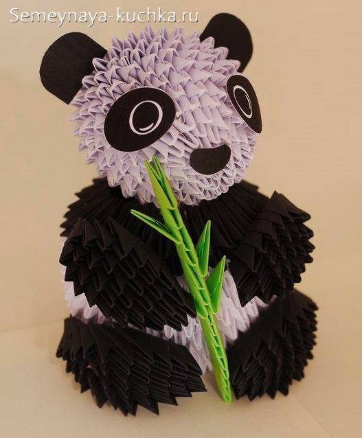 поделки из модульного оригами панда
