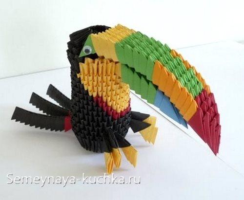 поделки из модульного оригами птицы