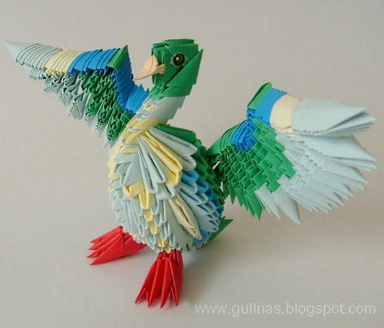 поделки из модульного оригами утки
