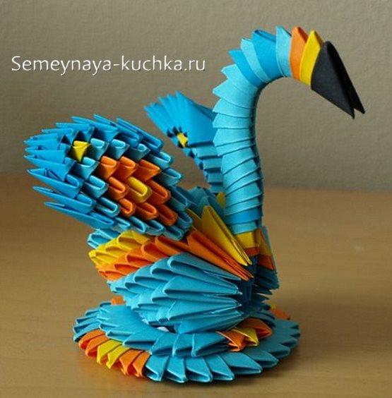 поделки из модульного оригами лебедь маленький