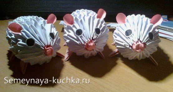 поделки из модульного оригами мышка