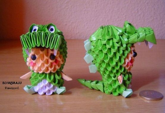 поделки из модульного оригами малыш