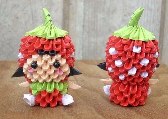 поделки из модульного оригами кукла
