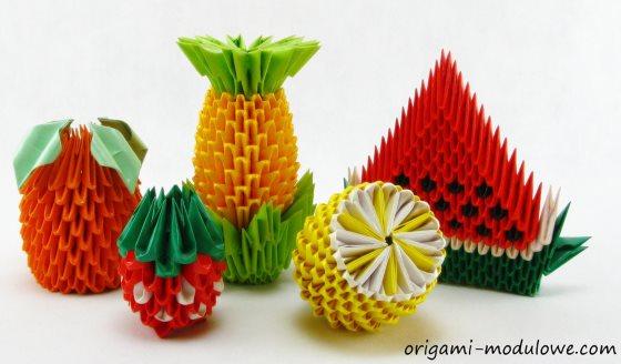 поделки из модульного оригами фрукты