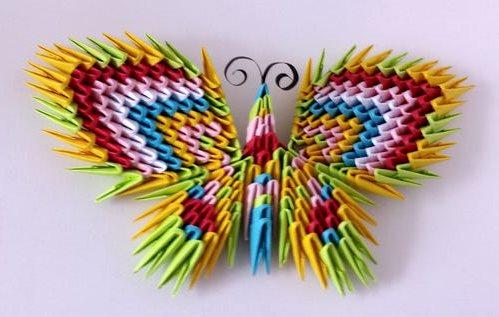 бабочка модульное оригами