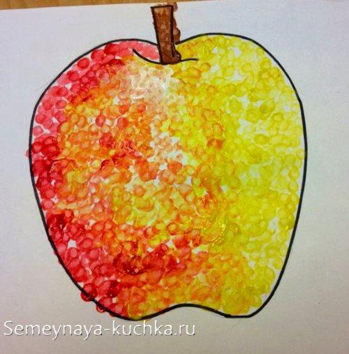 поделка красками в детском саду осень