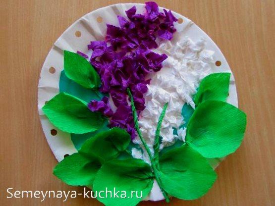 поделка цветы сирень