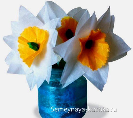 поделка цветы нарциссы