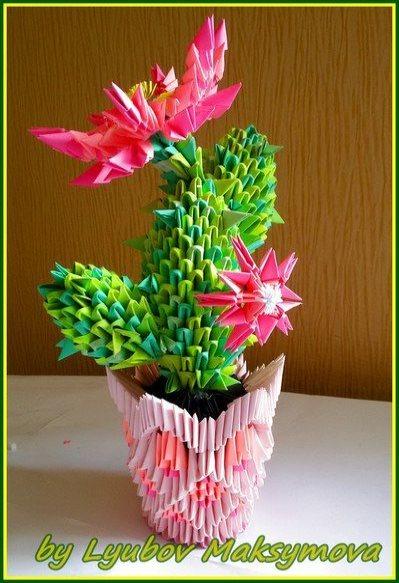поделка цветы кактус