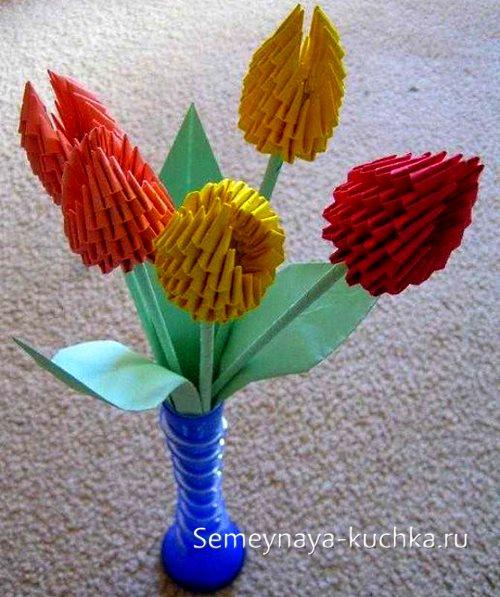 поделка цветы тюльпаны своими руками