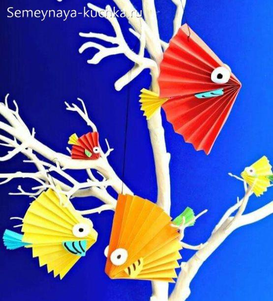 поделка рыбки в детский сад