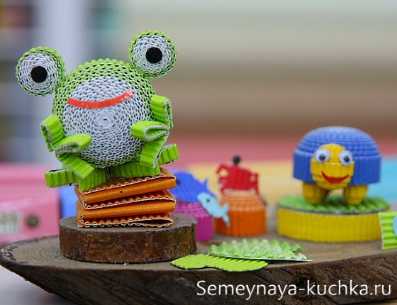 поделка лягушка в детский сад