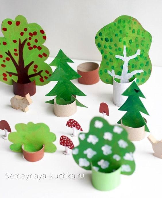поделка лес для детского сада