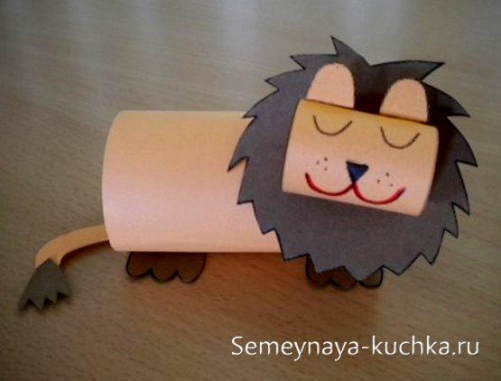 поделка лев для детского сада