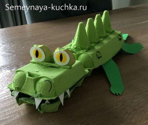 поделка крокодил для садика
