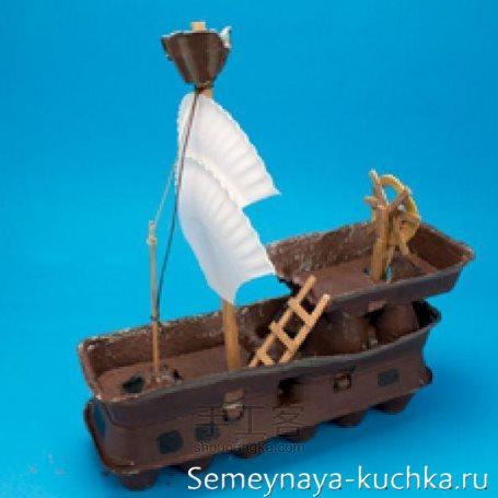 поделка корабль для детского сада