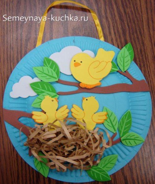 поделки из тарелки в детский сад