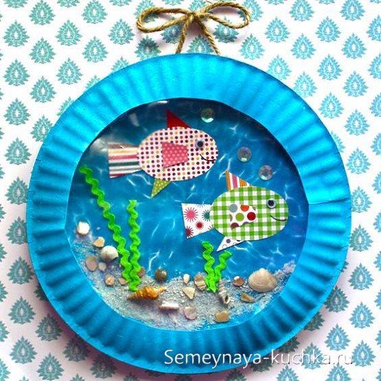 поделки из тарелки рыбки