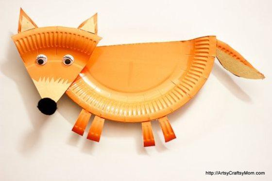 поделка лисица для детского сада