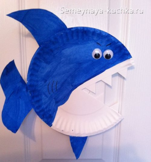 поделка акула для детского сада