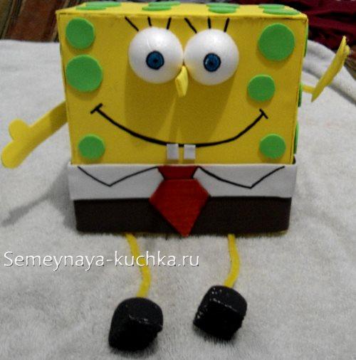 поделка из коробок для детского сада