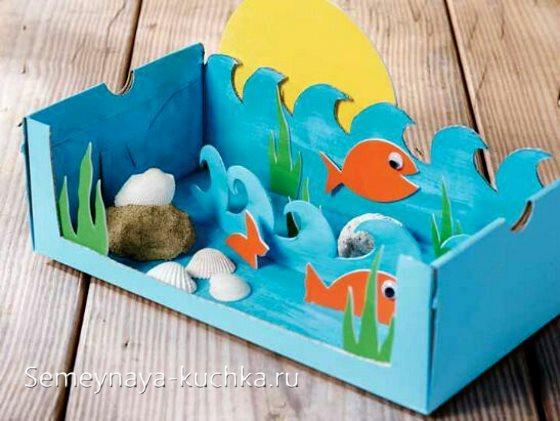 поделка рыбки в море в садик