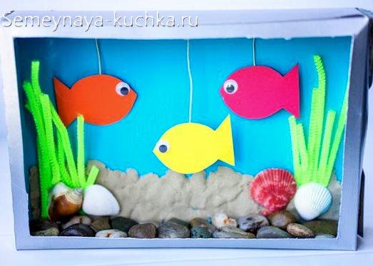 поделка рыбки для садика