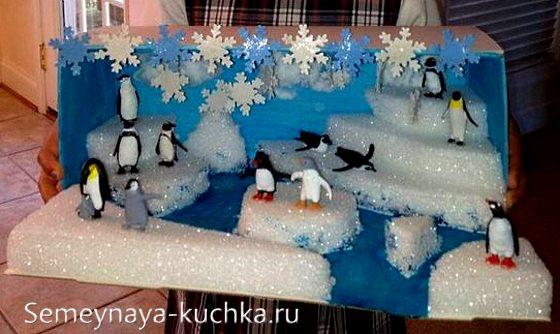 поделка север пингвины в детский сад