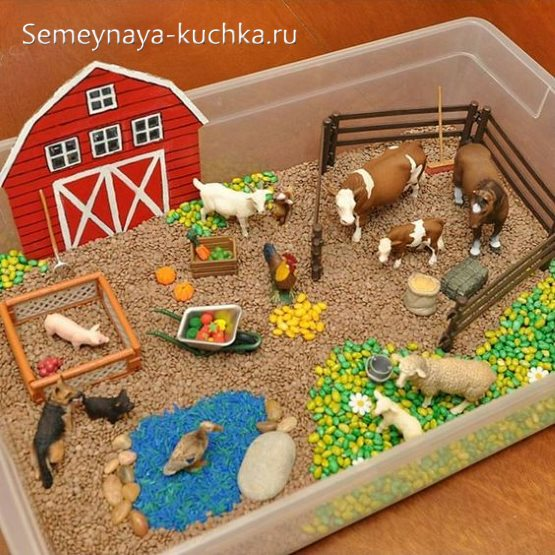поделка ферма для детского сада