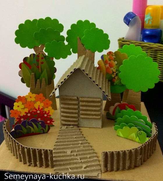 поделка домик для детского сада