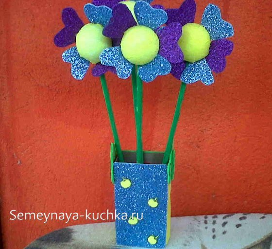 поделка цветы в детском саду