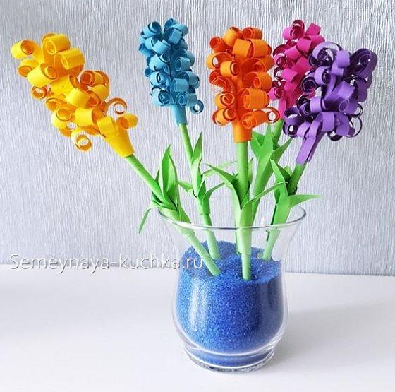 поделка цветы для садика