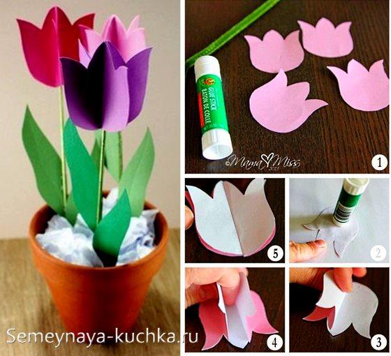 поделка цветы в детский сад