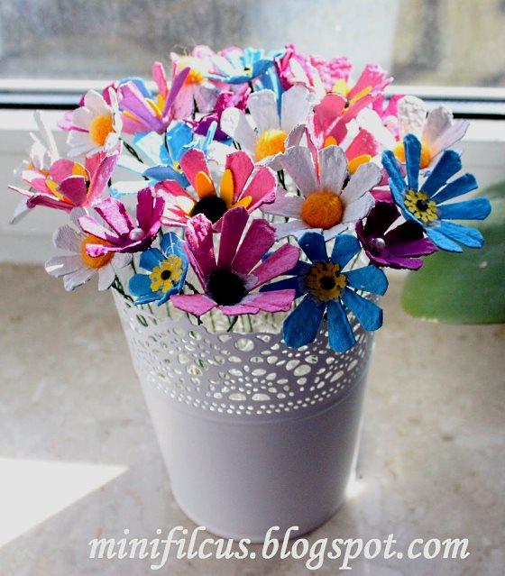 поделка цветы в садик