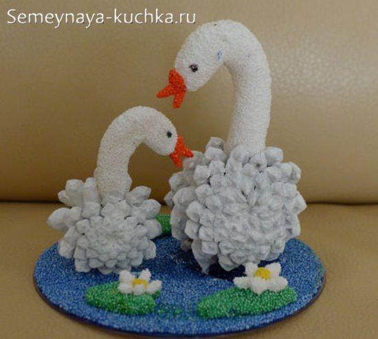 поделка лебедь для детского сада