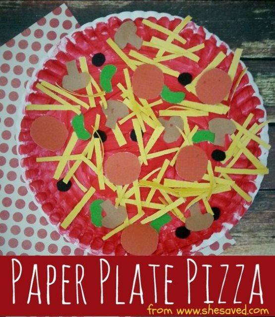 поделки пицца для девочек