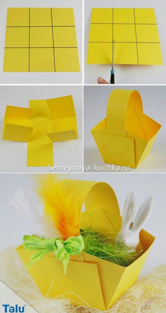 поделки для девочек корзинка из бумаги