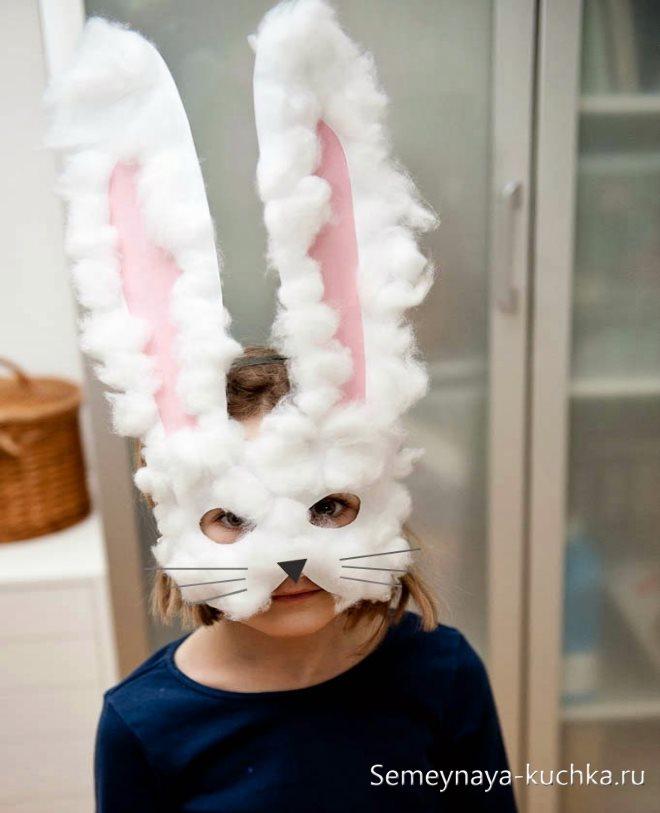 поделка маска для девочек заяц