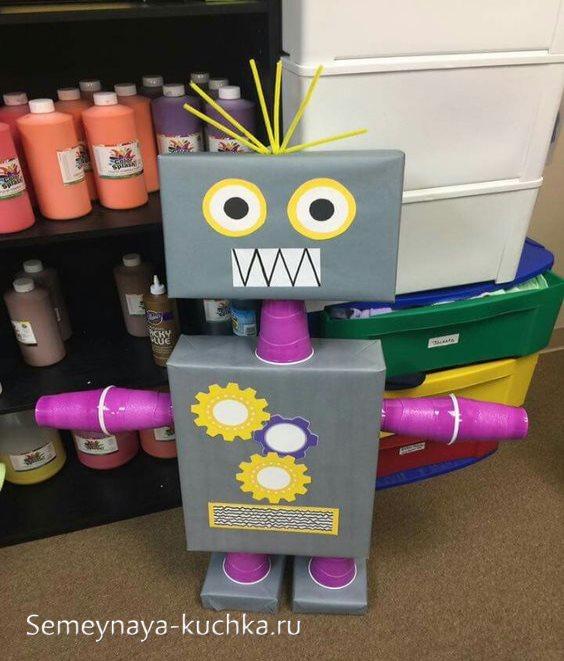 поделка робот для мальчиков