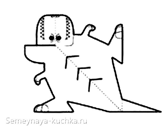 шаблон динозавр поделка для мальчиков