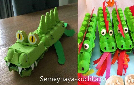 поделка для мальчиков крокодил